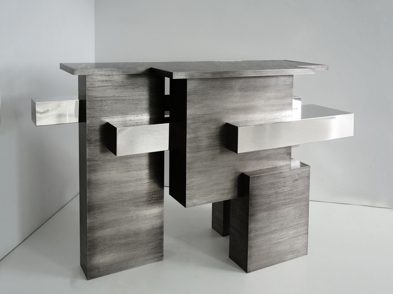 Chaflan Console textures 140 cm length x 85 cm height x 40 cm width. Limited edition of 8 pieces.